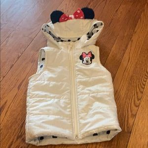Minnie Mouse vest with ears! Size 4T